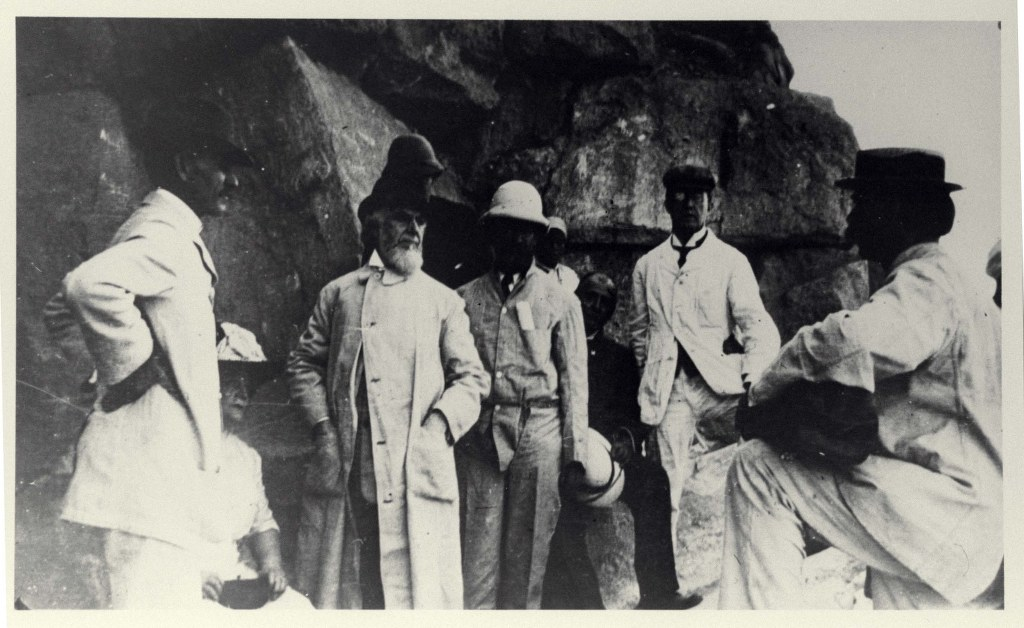 1912 - At The Pyramid With Br Morton Edgar - From Glass Slide 1024x628