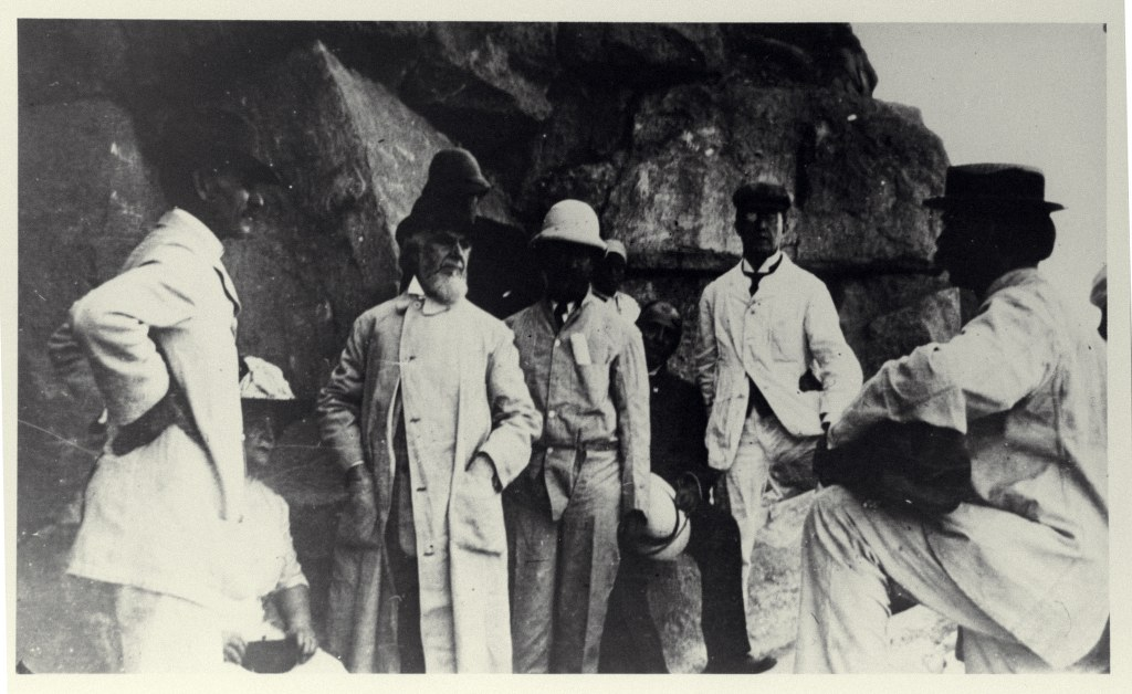 6j - 1912, March 7 - At The Pyramid With Br Morton Edgar - From Glass Slide 1024x628