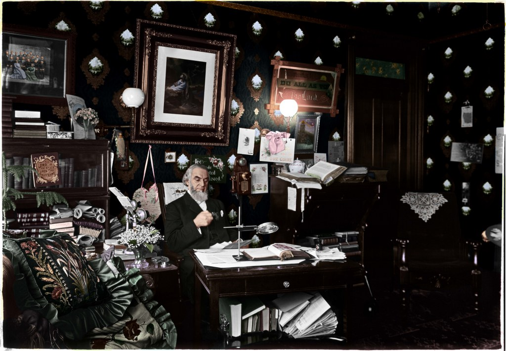 CTR In Allegheny Office - Taken In 1909 - Retouched And Colorized - Darkened 06-11-05 1024x712
