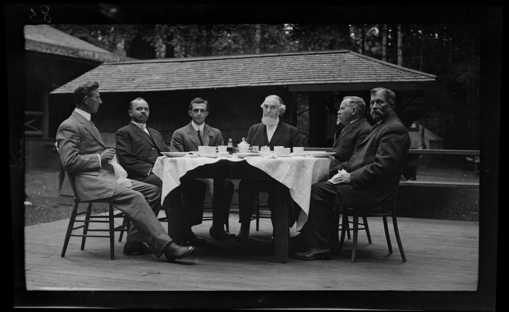 I38 - 1911, June 24 - Santa Cruz, CA, Dining El Fresco In The Tall Trees 1024x628