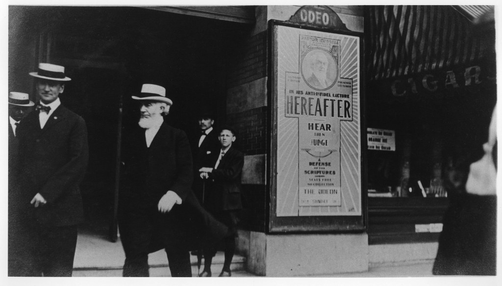I72 - Undated Photo, Leaving The Odeon Theater - Site Of A Talk On Hereafter 1024x585