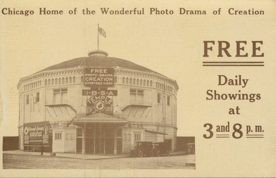 Post Card Advertising The Chicago Photo Drama Temple