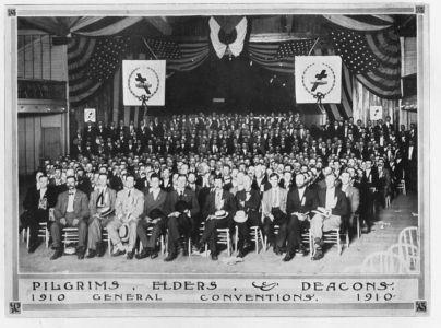 1910, конвенция, брат Рассел, Пилигримы, старшие и дьяконы