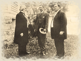 Pastor Russell with Bro. General Hall and Dr S A Smith See 1911r 2